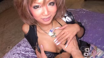 Riku Hinano in 'Cock hungry busty Asian babe fondled and get screwed deep down her eager snatch'